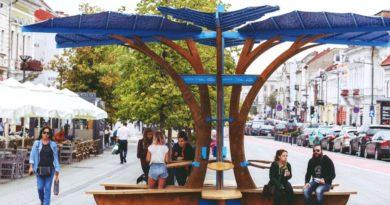 """Idei pentru Mureş: Green Spots, """"copacii de încărcare"""" au fost testați la Cluj"""