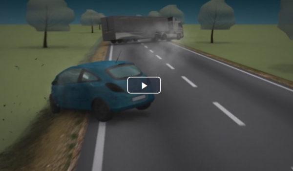 Animaţie grafică: cum s-a produs accidentul din Mureș, între un TIR și o mașină a corpului diplomatic