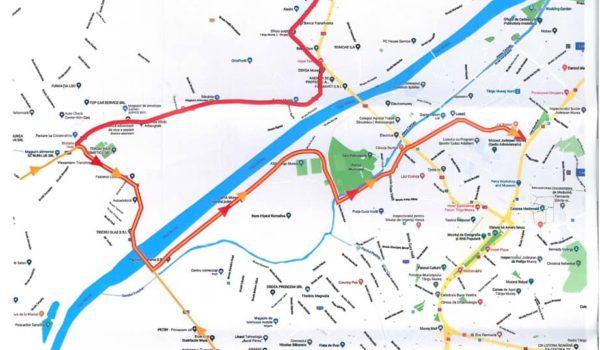 Nu uitați: Restricții de circulație pe podul Mureș