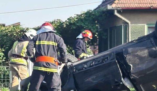 Accident rutier la Cristești
