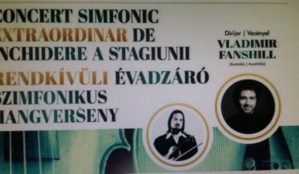 Concert simfonic extraordinar de închidere a stagiunii la Filarmonică