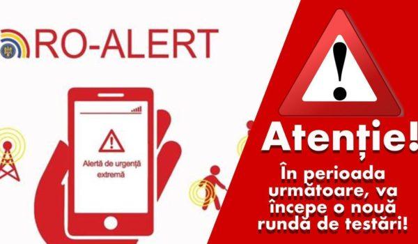 Testări ale sistemului RO-ALERT: mesaje pe telefoanele mobile