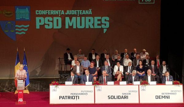 Viorica Dăncilă prezentă la Conferința Județeană a PSD Mureș