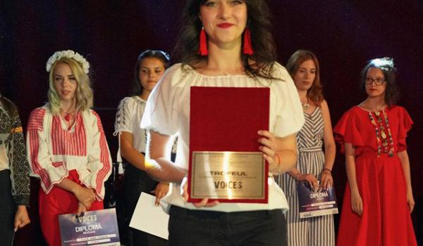Diana Andreea Vascul a câştigat trofeul festivalului internaţional Voices