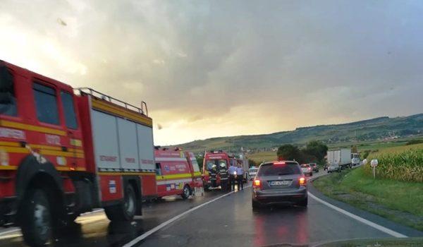 Accident rutier pe E 60