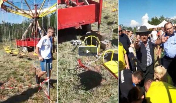 O fetiţă de 10 ani a căzut din carusel la Cristeşti (Video)