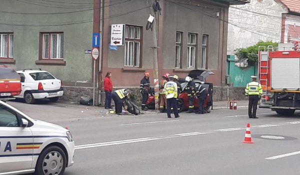 Acum: accident rutier pe strada Gh. Doja din Târgu Mureș