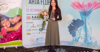 Maria Bunea, locul 1 la Cupa României de Artă Florală